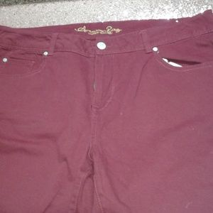 NWOT American Rag Red Cropped Jeans SZ 16